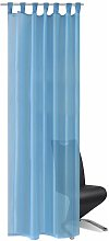 Turquoise Sheer Curtain 140 x 175 cm 2 pcs QAH00224