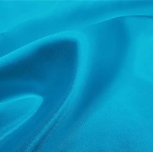 Turquoise Silky Satin Fabric by The Metre Material