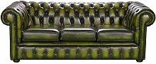 Turribridge Genuine Leather 3 Seater Chesterfield