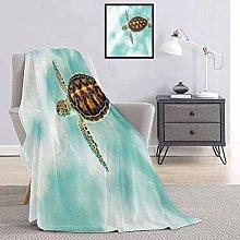 Turtle Bedding flannel blanket Cute Baby Turtle