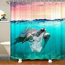 Turtle Waterproof Shower Curtains Sea Turtle