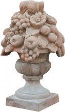Tuscan terracotta made diam.35x60 cm aged  fruit
