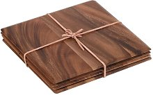 Tuscany Square Table Mat with Leather Tie T&G