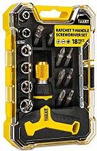 Tuulkit 18 Piece Ratchet T-Handle Screwdriver Set,