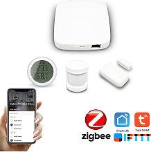 Tuya Zigbee Hub Smart Home PIR Sensor Door Sensor