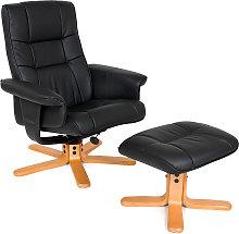 TV armchair with stool model 1 - black/beige
