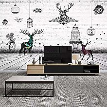 TV Background Wall_Nordic Abstract Nostalgic elk