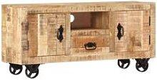 TV Cabinet 120x30x50 cm Rough Mango Wood - Brown -