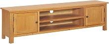 TV Cabinet 165x36x46 cm Solid Oak Wood VD13450 -