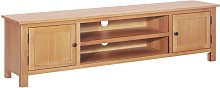 TV Cabinet 165x36x46 cm Solid Oak Wood