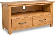 TV Cabinet 90x35x48 cm Solid Oak Wood VD10569 -