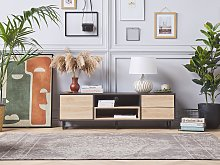 TV Cabinet Dark and Light Wood TV up to 65ʺ