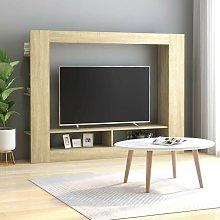 TV Cabinet Sonoma Oak 152x22x113 cm Chipboard