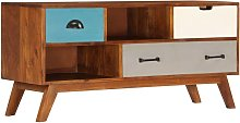 TV Cabinet with 3 Drawers 110x35x50 cm Solid