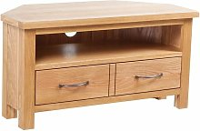 TV Cabinet with Drawer 88 x 42 x 46 cm Solid Oak