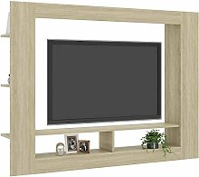 TV Stand Cabinet Unit Chipboard Sideboard Modern