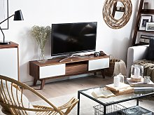 TV Stand Dark Wood For up to 65ʺ TV Media Unit 2