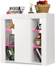 TV Stand High Gloss Cabinet Sideboard Cupboard 1