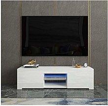 TV Stand LED Lights Television Media Storage