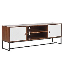 TV Stand Media Unit with Cable Management Metal