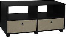 TV Stand Symple Stuff Colour: Black/Beige