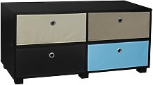 TV Stand Symple Stuff Colour: White/Blue/Beige