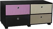 TV Stand Symple Stuff Colour: White/Pink/Beige