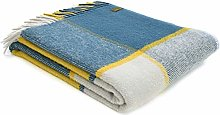 Tweedmill Textiles Block Check Throw Blanket -100%
