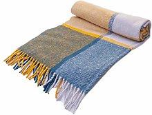 Tweedmill Textiles Block Check Wool Knee Rug Small