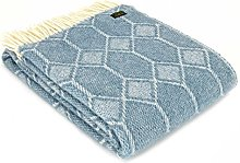 Tweedmill Textiles Petrol Blue Churchpane Pure New
