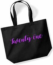 Twenty One 21st Shopping Tote in Black Colour