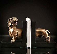 TWFY Decorative Book Ends Dog Bookends Decor Set
