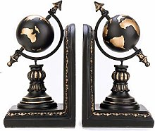 TWFY Decorative Book Ends Globe Bookends A Pair