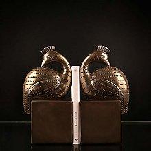 TWFY Decorative Book Ends Home 2 Pcs Bird Statues