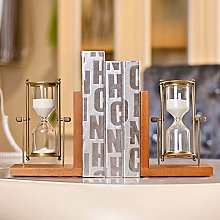 TWFY Decorative Book Ends Hourglass Bookend A Pair