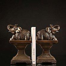 TWFY Decorative Book Ends Office 2 Pcs Decor