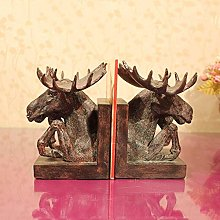 TWFY Decorative Book Ends Office Gifts 2 Pcs Alces