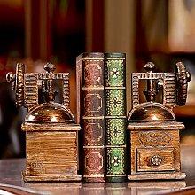 TWFY Decorative Book Ends Office Resin Vintage