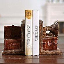 TWFY Decorative Book Ends Set Creative Vintage