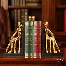 TWFY Decorative Book Ends Woman Playing 2 Piece
