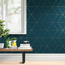 Twi Geometric 10m x 52cm Wallpaper Roll Zipcode