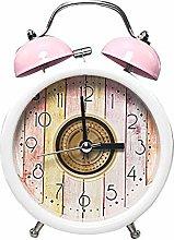 Twin Bell Alarm Clock, Loud Mechanical Wind-Up