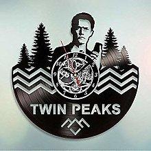 Twin Peaks Vinyl Wall Clock Art Gift Room Modern
