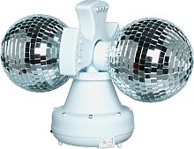 Twin Rotating Double Disco Ball Lamp