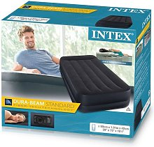 Twin Size Inflatable Raised Air Bed with Built in