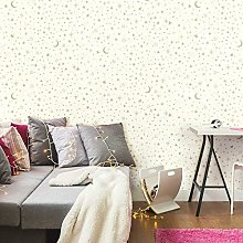 Twinkle Little Star Gold Adhesive Wallpaper