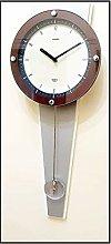 Twins Quartz Mahogany Wooden Pendulum Wall Clock