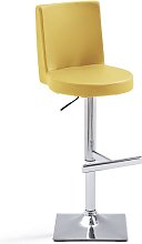 Twist Bar Stool Curry Faux Leather With Square