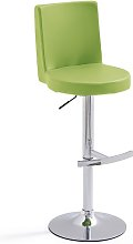 Twist Bar Stool Green Faux Leather With Round