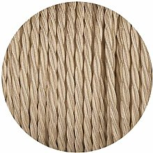 Twisted Silk Braided Vintage Fabric Cream Coloured